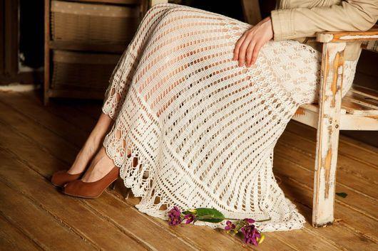"""Юбки ручной работы. Ярмарка Мастеров - ручная работа. Купить Юбка макси """"Элегия"""". Handmade. Белый, нарядное платье"""