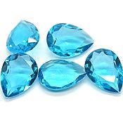 Стразы капля 25х18 мм прозрачный голубой