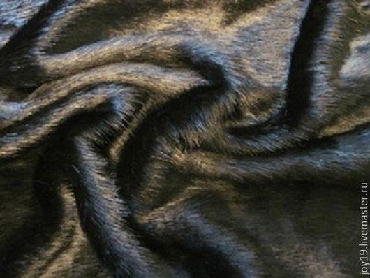 Шитье ручной работы. Ярмарка Мастеров - ручная работа. Купить Ткань. Мех норка искусственная.. Handmade. Черный, мех искусственный