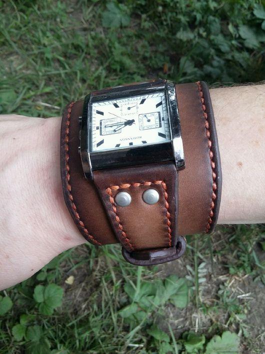 Пояса, ремни ручной работы. Ярмарка Мастеров - ручная работа. Купить Кожаный ремень на часы. Handmade. Браслет, нить