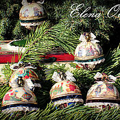 Подарки к праздникам ручной работы. Ярмарка Мастеров - ручная работа новогодний набор игрушек  Старый Новый год. Handmade.