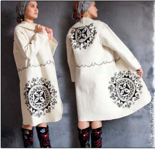 Верхняя одежда ручной работы. Ярмарка Мастеров - ручная работа. Купить Пальто из войлока. Handmade. Коричневый, пальто на заказ