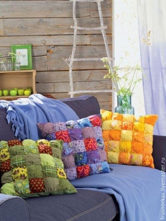 Текстиль, ковры ручной работы. Ярмарка Мастеров - ручная работа. Купить Наволочка на подушку. Handmade. Комбинированный, пэчворк, Декор