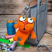 Куклы и игрушки handmade. Livemaster - original item Keychain, ginger kitten plush soft toy for lovers of cats. Handmade.