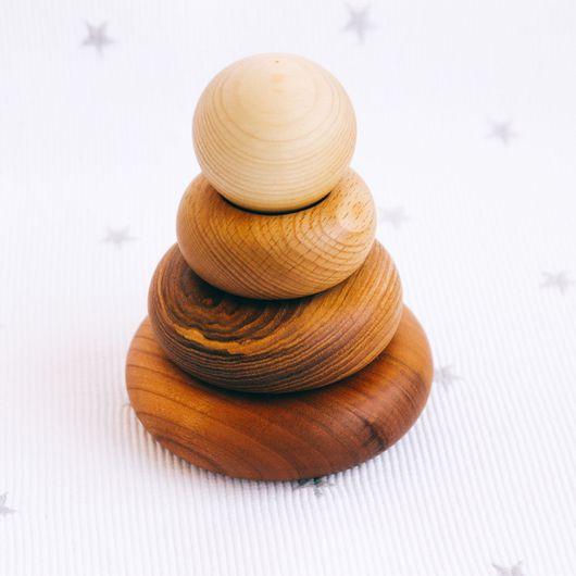"""Развивающие игрушки ручной работы. Ярмарка Мастеров - ручная работа. Купить Маленькая пирамидка деревянная """"Nature Mini"""". Handmade."""