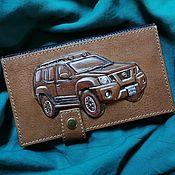 "Wallets handmade. Livemaster - original item Leather wallet ""Nissan Xterra"". Handmade."