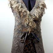 """Одежда ручной работы. Ярмарка Мастеров - ручная работа Валяный жилет """"Немного леопарда..."""". Handmade."""