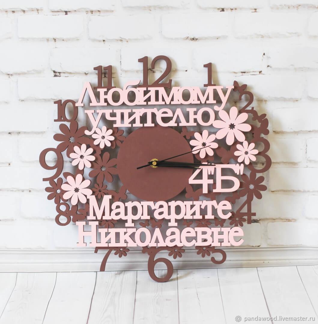 Персональные подарки ручной работы. Ярмарка Мастеров - ручная работа. Купить Часы настенные деревянные. Handmade. Интерьер, большие часы