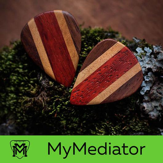 Струнные инструменты ручной работы. Ярмарка Мастеров - ручная работа. Купить Медиатор Multi Wood - 04. Handmade. Ярко-красный
