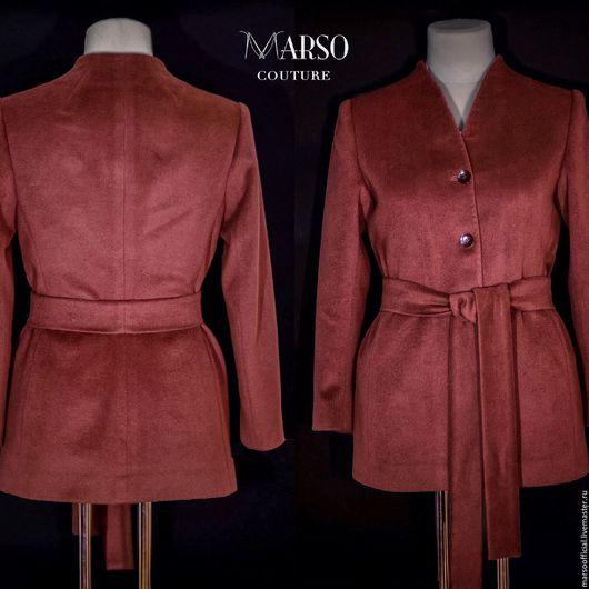 Верхняя одежда ручной работы. Ярмарка Мастеров - ручная работа. Купить Кашемировое пальто Haute Couture. Handmade. Коричневый