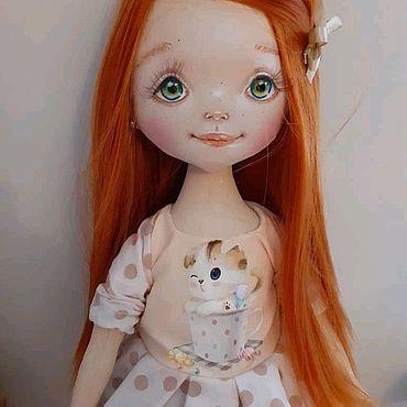Куклы и игрушки ручной работы. Ярмарка Мастеров - ручная работа Ириска.Текстильная куколка. Handmade.