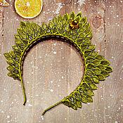 """Диадемы ручной работы. Ярмарка Мастеров - ручная работа Новогодняя корона """"Зимнее солнце"""". Handmade."""