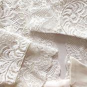 """Одежда ручной работы. Ярмарка Мастеров - ручная работа Кружевной халатик """"Белый лебедь"""". Handmade."""