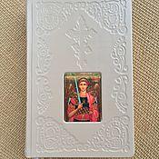 Сувениры и подарки handmade. Livemaster - original item Prayer book with embossed leather cover. Handmade.