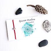 Украшения handmade. Livemaster - original item Shambhala bracelet with natural rhodonite stone on a red thread. Handmade.