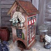 """Для дома и интерьера ручной работы. Ярмарка Мастеров - ручная работа Чайный домик """" Любимое кафе"""". Handmade."""