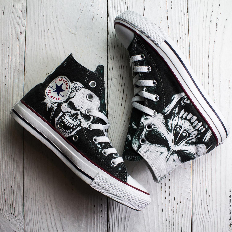 Высокие кеды Converse «Череп» – купить в интернет-магазине на ... f10561005d8