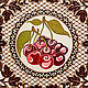 `Вишня в шоколаде` Свинка - вешалка, ключница, панно с крючками (для кухни, прихожей, ванной). Ручная роспись по дереву. Символ 2019 года.