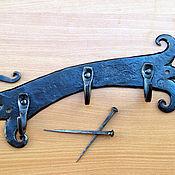 Для дома и интерьера ручной работы. Ярмарка Мастеров - ручная работа Вешалка. Ключница кованая. Handmade.