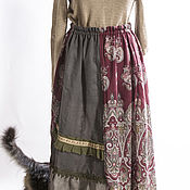 Одежда ручной работы. Ярмарка Мастеров - ручная работа юбка бохо зелёный лес-2. Handmade.