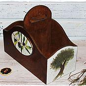 """Короб ручной работы. Ярмарка Мастеров - ручная работа Короб""""Оливковая ветвь"""". Handmade."""