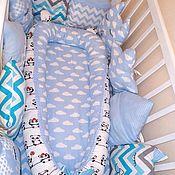 Кокон-гнездо ручной работы. Ярмарка Мастеров - ручная работа Конверты на выписку: Гнёздышко кокон для новорожденных. Handmade.