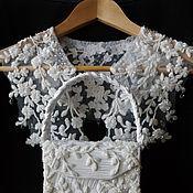 """Украшения ручной работы. Ярмарка Мастеров - ручная работа венчальный комплект """" Прикосновение Нежности""""  White -белый. Handmade."""