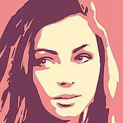 Картины и панно ручной работы. Ярмарка Мастеров - ручная работа портрет pop-art. Handmade.