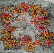 Аксессуары ручной работы. Ярмарка Мастеров - ручная работа Платок-Батик``Осенний ноктюрн``(Времена года). Handmade.