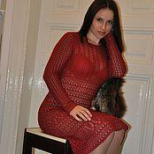 """Одежда ручной работы. Ярмарка Мастеров - ручная работа Вязаное платье  """" Джаз"""". Handmade."""