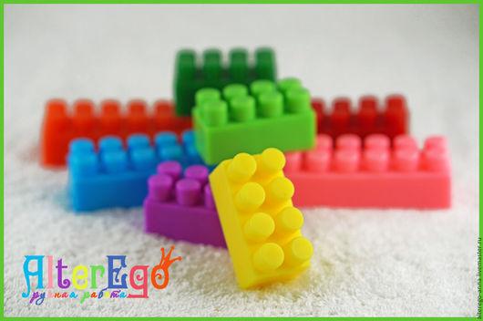 """Мыло ручной работы. Ярмарка Мастеров - ручная работа. Купить Мыло """"Лего"""". Handmade. Комбинированный, мыло ручной работы"""