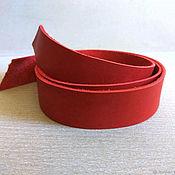 Фурнитура для сумок ручной работы. Ярмарка Мастеров - ручная работа Кожаная полоса Ручки для сумок Ш.1.5-6см Т.2.0-2.2мм Дл.до 2м Красный. Handmade.