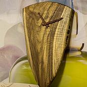 Для дома и интерьера ручной работы. Ярмарка Мастеров - ручная работа Часы настенные из массива Тика. Handmade.