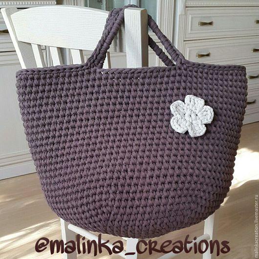 Стильная вязаная сумка Cocoa Bag от Malinka_Creations