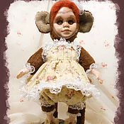 Куклы и игрушки ручной работы. Ярмарка Мастеров - ручная работа Тедди-долл Маша-обезьянка.. Handmade.