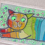 """Картины и панно ручной работы. Ярмарка Мастеров - ручная работа """"Весёлый полосатик!"""". Handmade."""