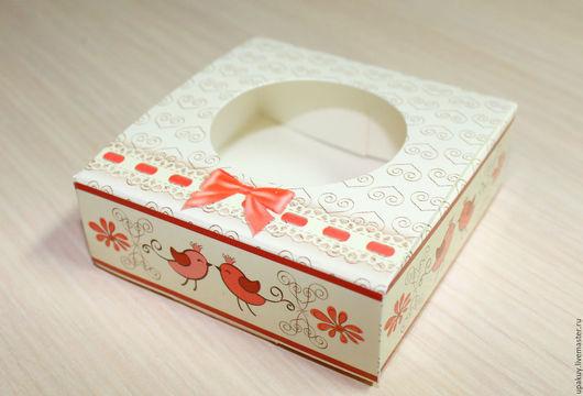 Упаковка ручной работы. Ярмарка Мастеров - ручная работа. Купить Коробочка 7,5x7,5x2,5 см.. Handmade. Белый