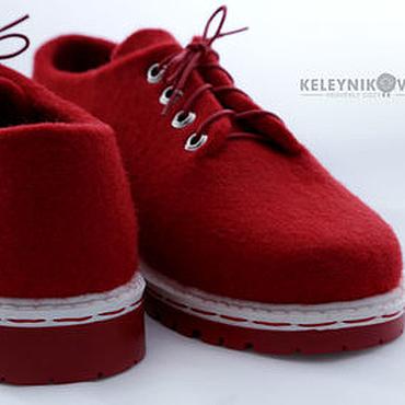 Обувь ручной работы. Ярмарка Мастеров - ручная работа Валяные туфли мокасины Аврора. Handmade.
