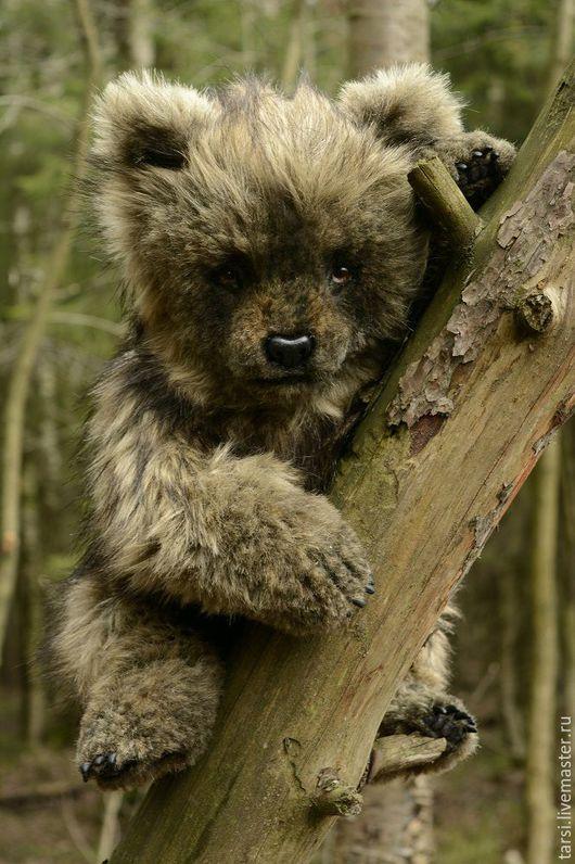 Мишки Тедди ручной работы. Ярмарка Мастеров - ручная работа. Купить Медвежонок Адалина. Handmade. Коричневый, медведь тедди, синтепон