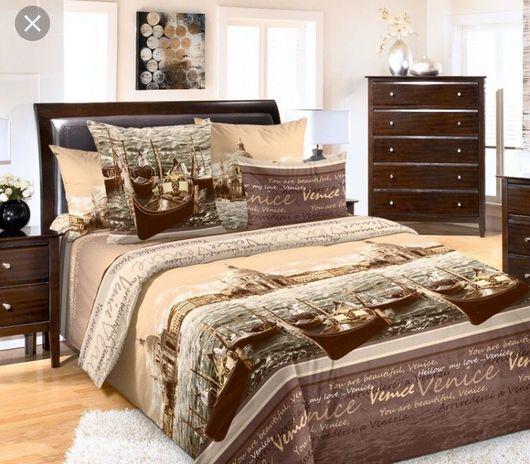 """Текстиль, ковры ручной работы. Ярмарка Мастеров - ручная работа. Купить Комплект """"Венеция"""", постельное белье из перкаля (100% хлопок). Handmade."""