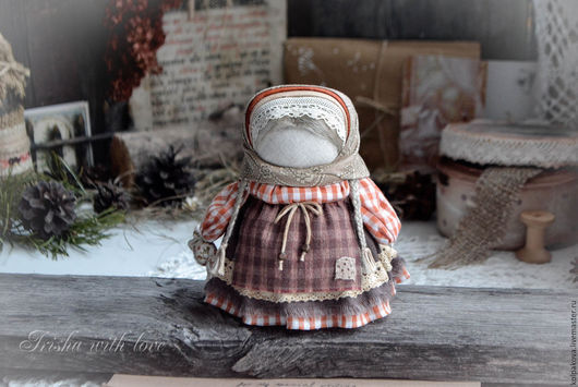 """Народные куклы ручной работы. Ярмарка Мастеров - ручная работа. Купить кукла-оберег Девочка с конфетой """"Шоколадный апельсин"""".. Handmade."""