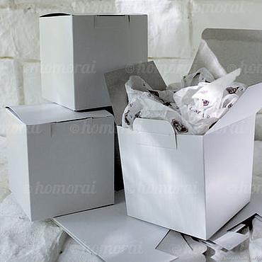 Материалы для творчества ручной работы. Ярмарка Мастеров - ручная работа Коробки: Коробка белая 105х105х110 мм. Handmade.