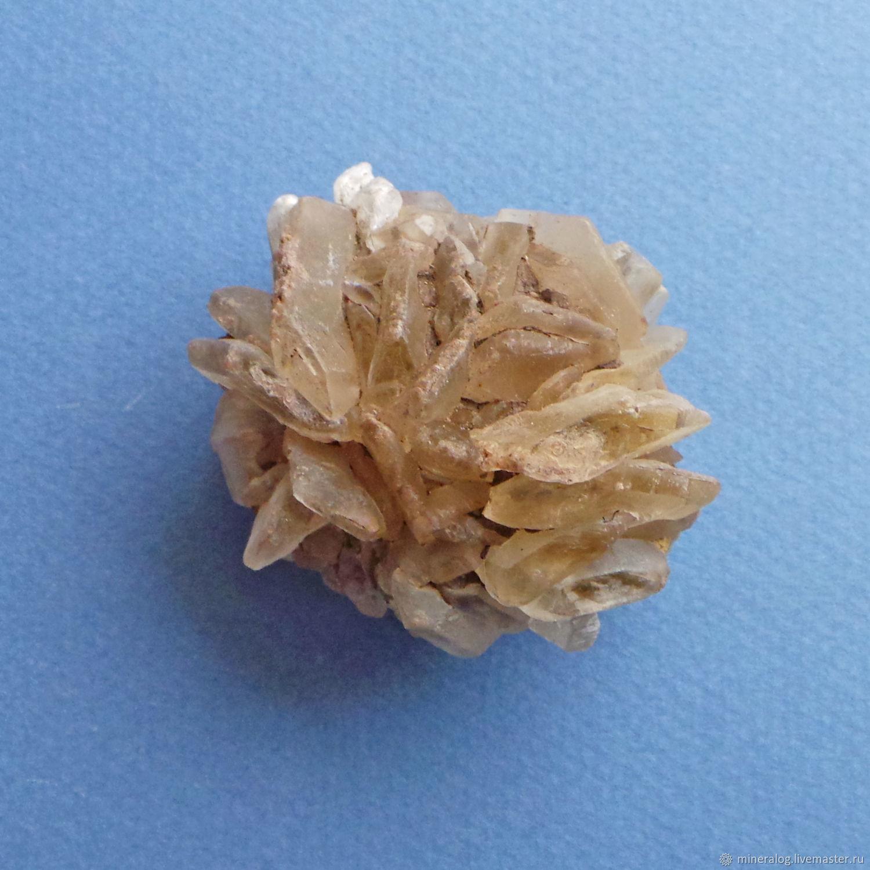 гипсовая роза натуральная природный кристалл минерала гипс
