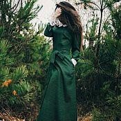 Одежда ручной работы. Ярмарка Мастеров - ручная работа Платье в пол Изумруд. Handmade.