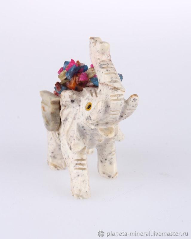 Персональные подарки ручной работы. Ярмарка Мастеров - ручная работа. Купить Слоник из перуанского агальматолита  «Дружок». Handmade. Слоник