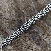 Украшения handmade. Livemaster - original item Fox Tail Bracelet. 925 sterling silver weight about 18gr. art.One million ninety five thousand nine . Handmade.