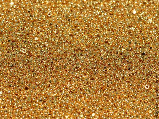 Для украшений ручной работы. Ярмарка Мастеров - ручная работа. Купить Бисер Charlotte 15/0 5 (!) гр. Чешская Шарлотта. 24kt Gold Plated. Handmade.