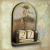 Канцелярские товары ручной работы. Ярмарка Мастеров - ручная работа Вечный календарь Полеты во сне. Handmade.