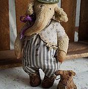Куклы и игрушки ручной работы. Ярмарка Мастеров - ручная работа Слон и Моська - авторские плюшевые игрушки. Handmade.