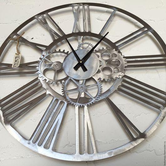 """Часы для дома ручной работы. Ярмарка Мастеров - ручная работа. Купить Часы 45см """"Kaiku - lihvitud"""". Handmade. Сталь"""